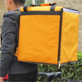 PK-76Y: Insulated food backpack, middle pizza delivery bags to keep hot for long time, 16