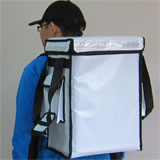 PK-33VW: Food carrier grocery courier bags, coffee take out backpack, keep hot, 13