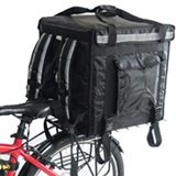 PK-92V: Insulated food delivery bag, premium large commercial food box for motorcycle, 18