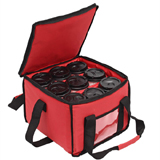 PK-18A: Drink Carrier and Food Delivery Bag with 3 Cup Holder Bags Holds up to 9 Coffee Cups, Tote Bags